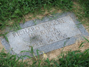 Gravestone of Dick Hickock, Mt. Muncie Cemetery, Lansing, KS. The original, purchased by Capote, was stolen and is now archived in the Kansas Museum of History.