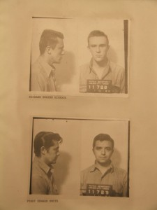 Dick Hickock and Perry Smith, mugshots taken from Finney County, Kansas Archive