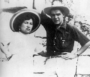 Che on his honeymoon with Hilda Gadea
