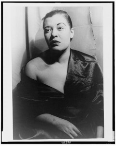 Billie Holiday, later years.