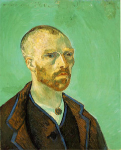 "Van Gogh's jade self-portrait dedicated to ""Mon Ami Paul"", sold by Gauguin to raise money for Tahiti, auctioned by the Nazi's as ""degenerate art"", today it hangs in Harvard's Fogg Museum."
