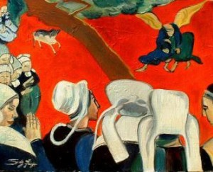 """Gauguin's iconoclastic """"Vision After the Sermon."""""""