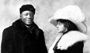 Jack Johnson and Etta Duryea.