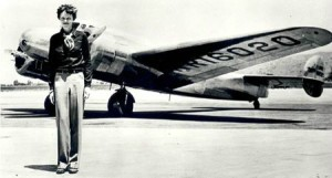 The iconic photograph of Amelia Earhart and her Lockheed Electra 10E