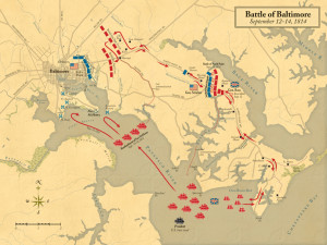 Map of the Battle of Baltimore