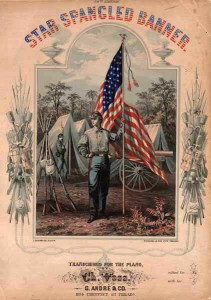 Star Spangled Banner Sheet Music from the 1800's