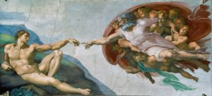 Sistine Chapel Detail, The Creation of Adam
