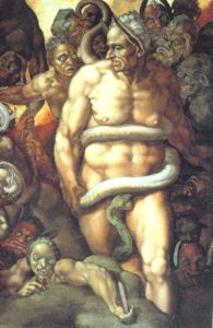 Minos, The Last Judgment, Sistine Chapel, Vatican City